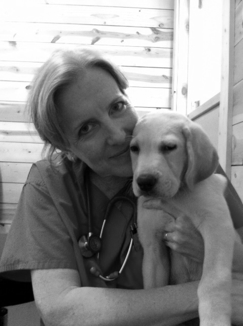 chicago-vet-dr-barbara-royal-with-puppy-quincy